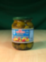 Pickled hot cherry peppers, spicy