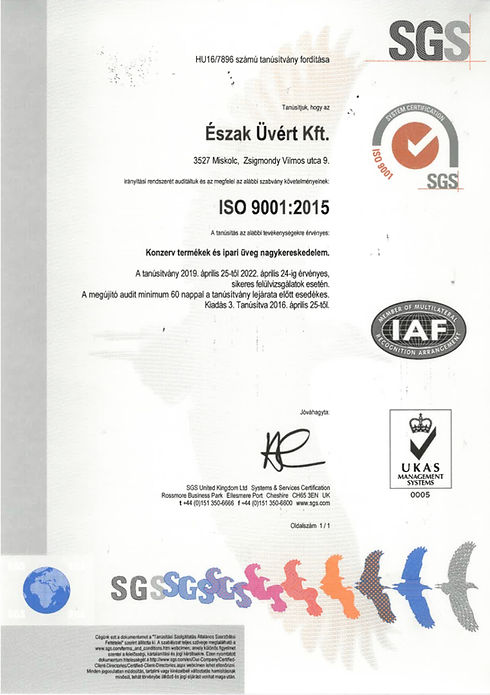 SGS ISO 9001:2015