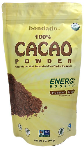 bondado cacao powder label
