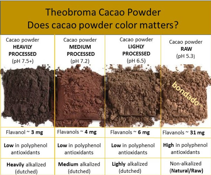 raw cacao powder color