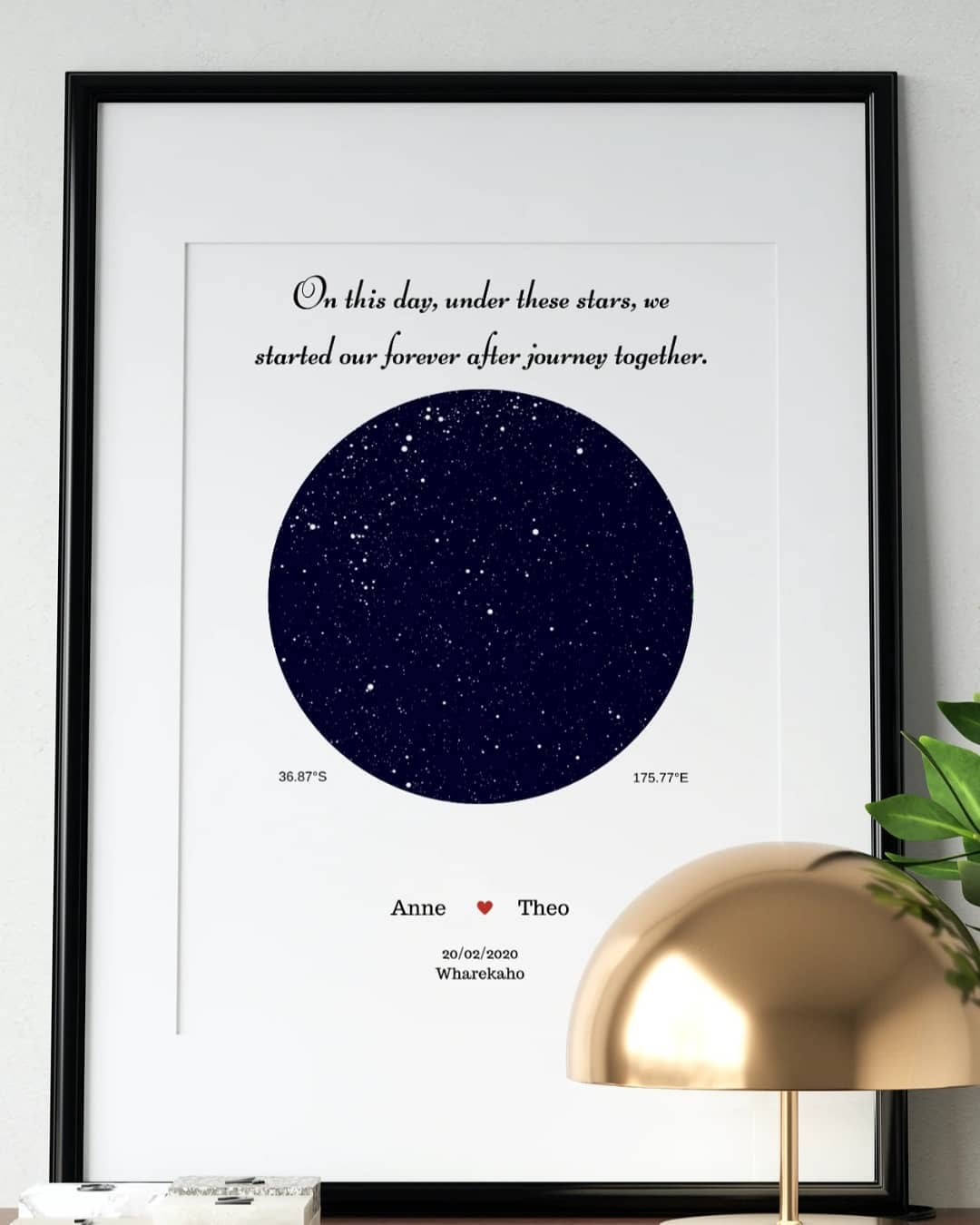 Star map home decor prints