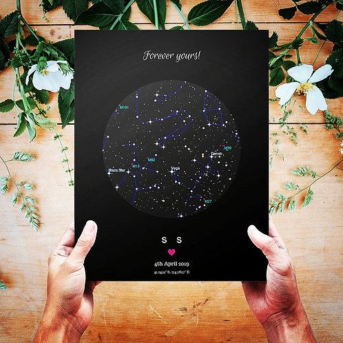 Star map print-A4