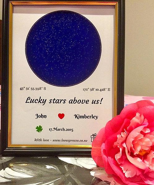 framed Star map