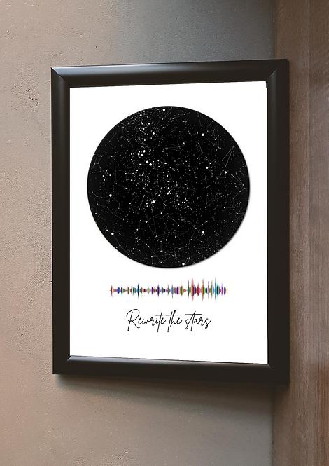 Star map gift :Big Poster prints