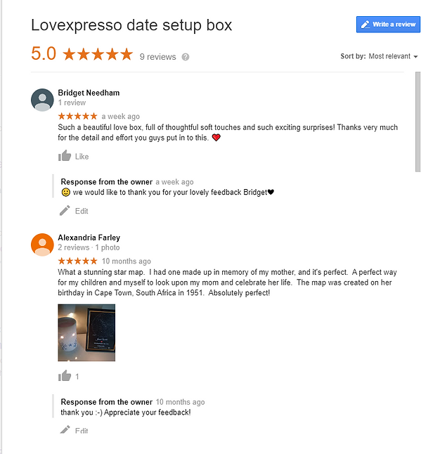 Reviews for Lovexpresso date box