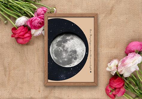 Moon phase printed
