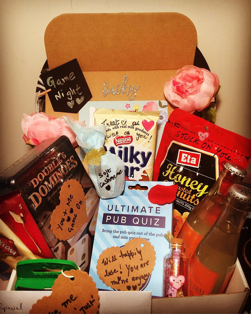 Date night box for wedding day