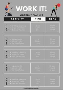 Work out planner