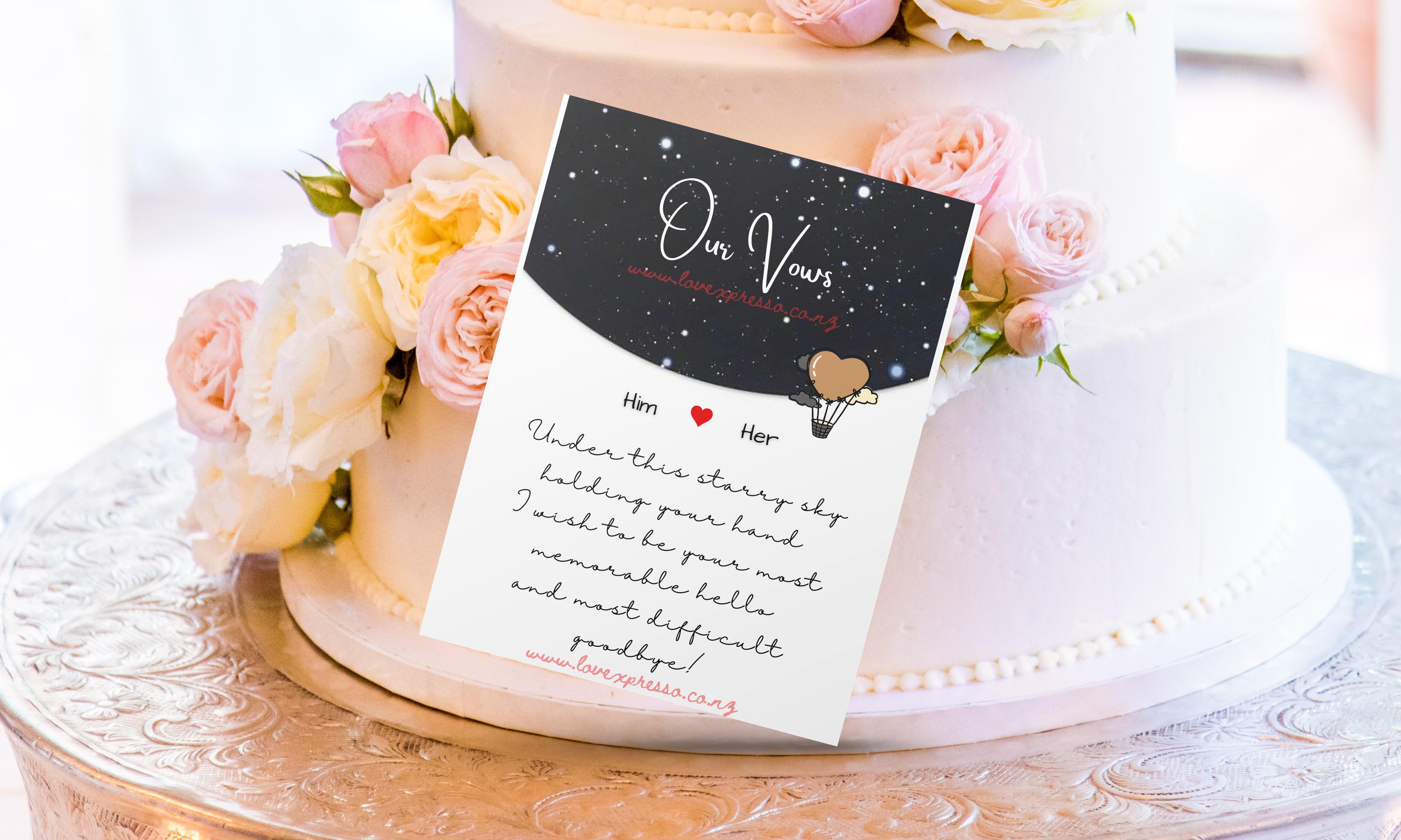 Set of 2-Wedding vows & Invite