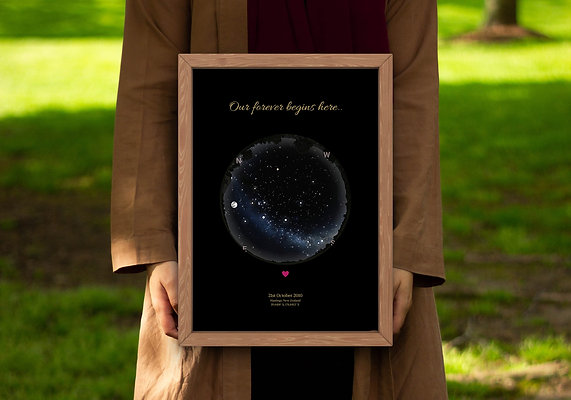 Star map gift :Big Poster prints