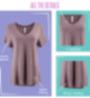 The beauty of any T shirt is in its simplicity. Like most simple things, there is more to consider. LuLaRoe is happy to offer another versatile piece to our Collection of tops - the Christy V-neck!  Coming in a variety of the most comfortable fabrics, this loose fitting, short sleeve T is a great way to flatter your neck while adding a touch of sophistication to our Classic T.