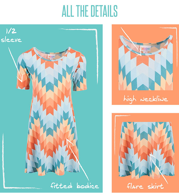 LuLaRoe's commitment to simple, comfortable fashion is evidenced by even our youngest customers. We have no doubt your girls will fall hard for the LuLaRoe Adeline – a simple, playful swing dress that nails the balance between style and function. Look cute. Play hard.