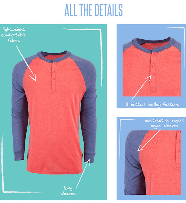 LuLaRoe's Mark is a timeless 3-buttoned Henley top that features contrasting, raglan-style long sleeves. Cool and comfortable with a bit more style than a simple T, the Mark is a perfect and easy addition to a guy's wardrobe.