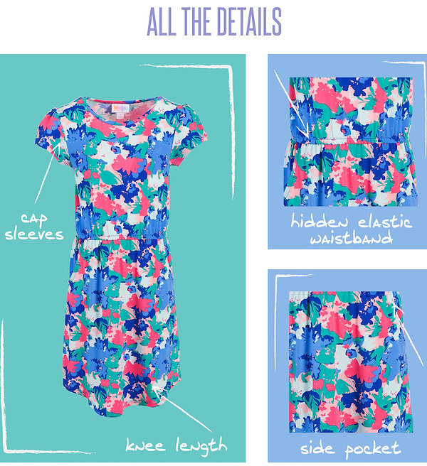 """We all love versatility when it comes to our wardrobe's! Clothes that are suitable for a variety of seasons and occasions are always appreciated, and especially so when it comes to kids fashion. The LuLaRoe """"Mae"""" is such a piece. Featuring a hidden elastic waistband and inset pockets(!!!), the LuLaRoe Mae can be worn as a dress or as a tunic (maybe over some of her favorite LuLaRoe leggings?)."""