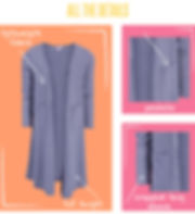 """For the days when your little one wants to be stylish and cozy, they'll be so happy to have the LuLaRoe """"Sariah,"""" a sweater knit cardigan that is as comfortable as it is adorable. Patterned after the Sarah cardigan, the Sariah is the smaller version designed for the LuLaRoe kids line. Lightweight and warm, the Sariah is sure to become your kids' go to piece for cool days."""