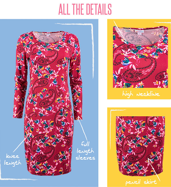 The comfort and ease of a good sheath dress makes us so happy. Now add long sleeves to this classic silhouette and you have the Debbie! This dress is so elegant and chic, yet it can be worn every day of the week! Add your favorite layering piece or accessory for that special event, and the LuLaRoe Debbie is definitely a perfect dress!