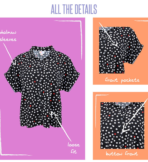Already a favorite, the lightweight Amy dolman top is a wide fitting, button front, cropped blouse that has rolled cap sleeves and a spread collar. Great on it's own, or layered over your favorite LuLaRoe pieces, the Amy is a graceful way to add charm to your favorite go-to pieces. This feels like a beautiful beginning to a fashionable friendship!