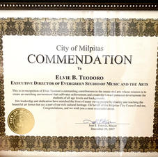 City of Milpitas Commendation