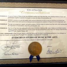 City of San Jose Commendation