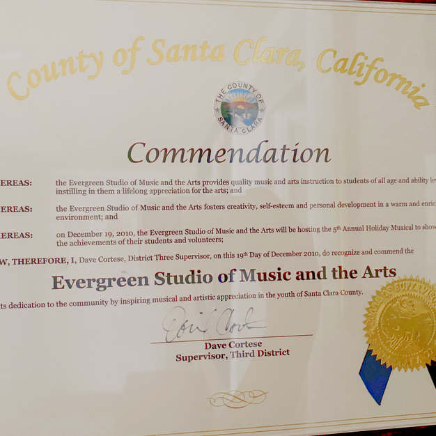County of Santa Clara Commendation