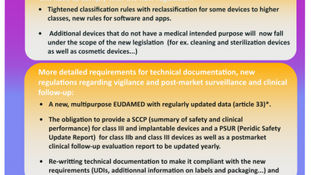 THE EU MEDICAL DEVICE REGULATION 2017 /745 : A new opportunity to be ready in time (1/6)