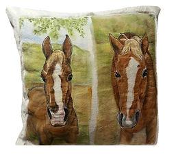 Fiber Pet Portrait with Pillow Cover