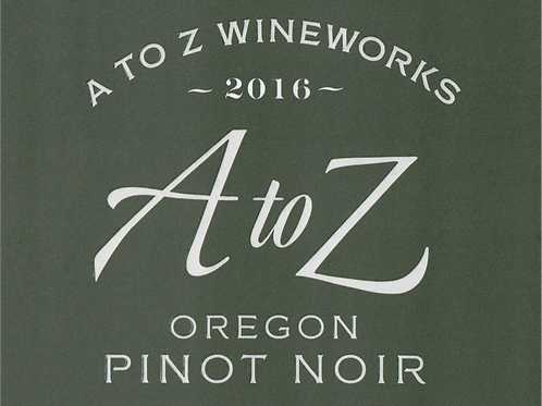 A to Z Pinot Noir 2016