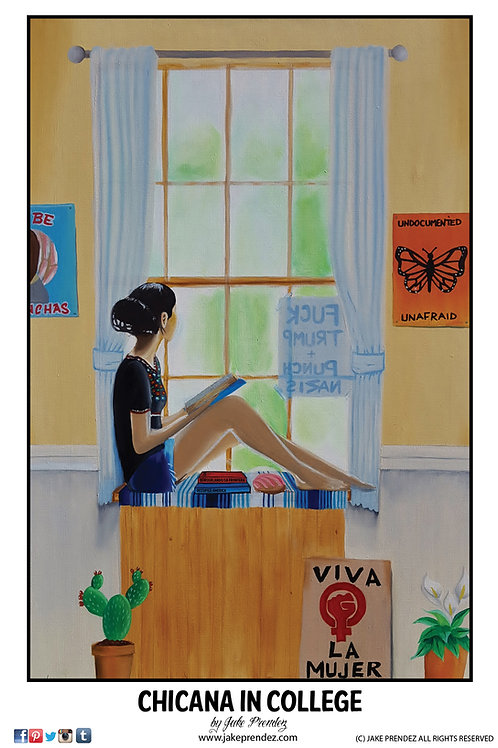 Artist Print | Chicana in College