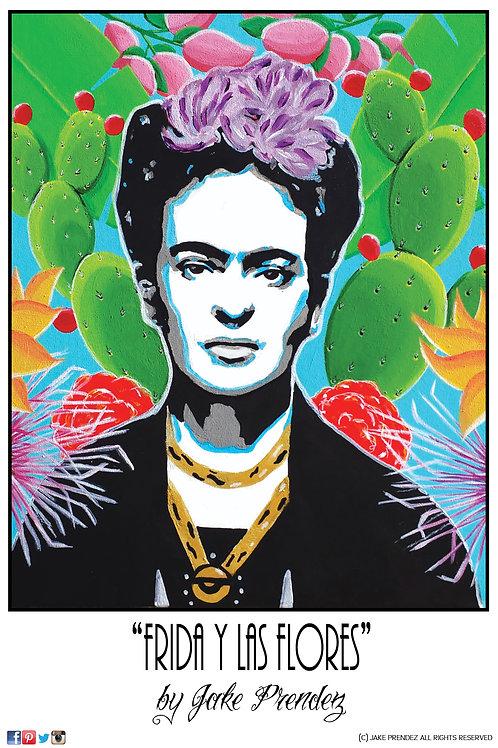 Artist Print | Frida y Las Flores