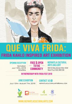 Que Viva Frida: Frida Kahlo Inspired Art Exhibition