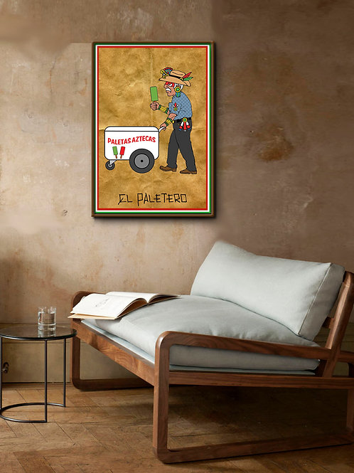 Reproduction on Canvas | El Paletero