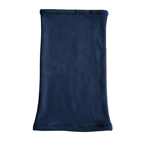 Nekwarmer marineblauw