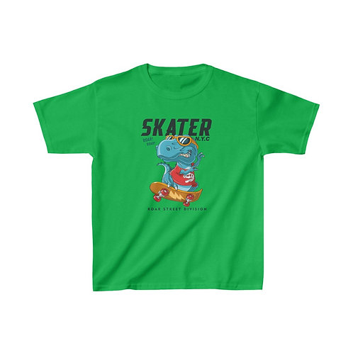 Kids Heavy Cotton™ Tee Skater dino