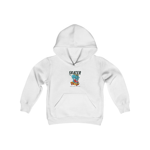 Youth Heavy Blend Hooded Sweatshirt Skater dino