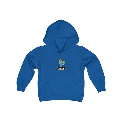 Youth Heavy Blend Hooded Sweatshirt T-rex