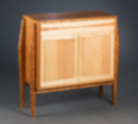 maple and cherry case sideboard