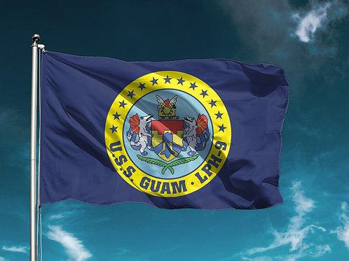 USS Guam Flag - Crest Art