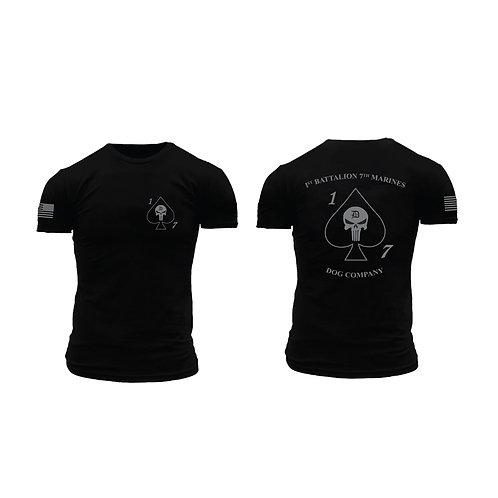 Dog Co. 1/7 Short Sleeve T-Shirt - Black Shirt Gray Ink