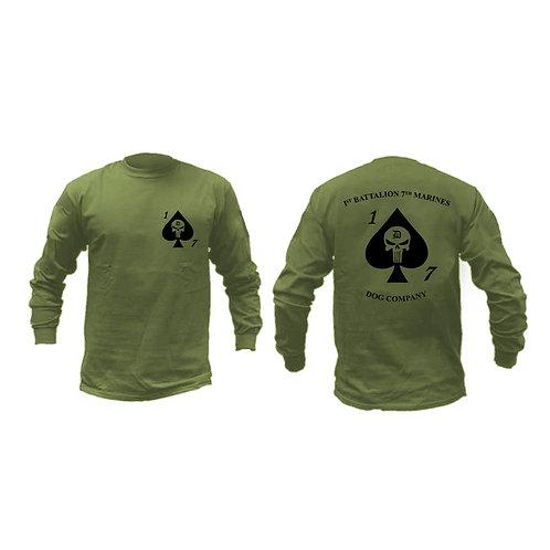 Dog Co. 1/7 Long Sleeve OD T-Shirt
