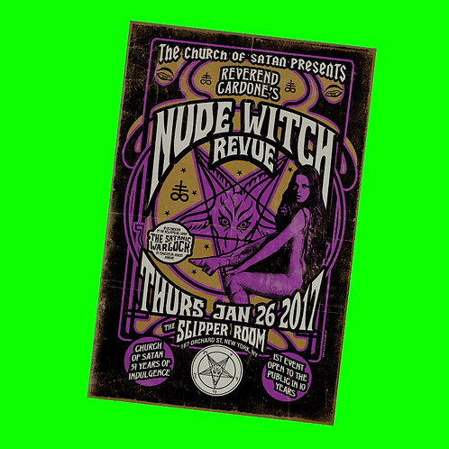 Nude Witch Revue Poster