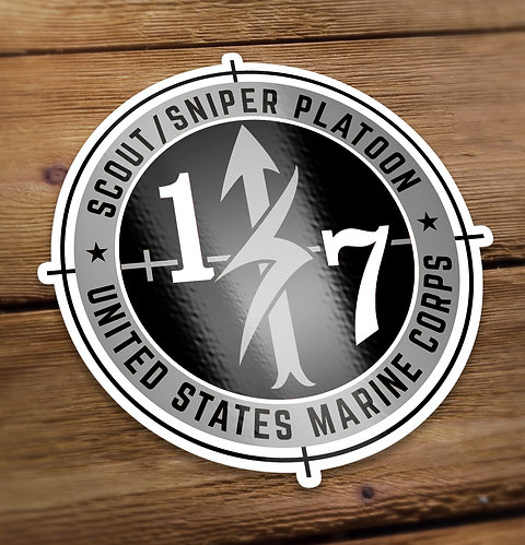Scout Sniper Black and Gray Decal