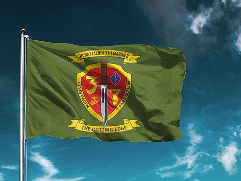 3/7 Flag - Olive Drab