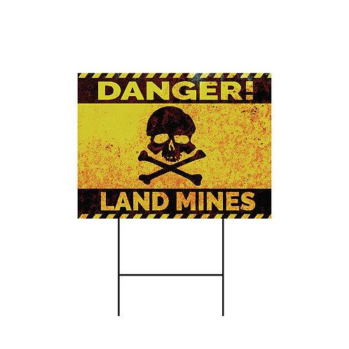 Land Mines Yard Sign