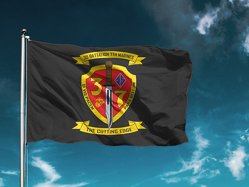 3/7 Flag - Black