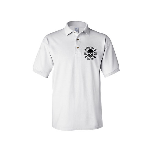Basic White Polo - Size: XL