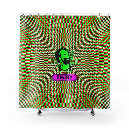 Zig Zag Man Psychedelic Shower Curtain