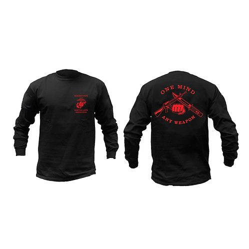 Long Sleeve USMC Martial Arts Instructor T-Shirt