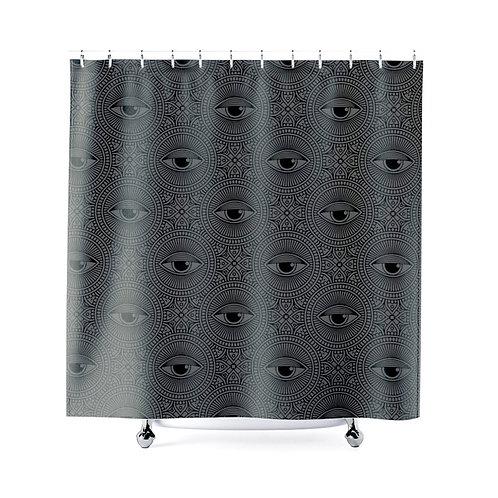 Geometric Eyes Shower Curtain