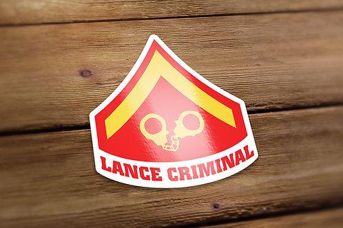 Lance Criminal Decal