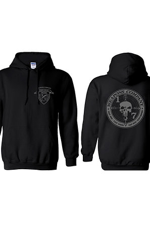 Weapons Co. Black Hoodie - Gray Print